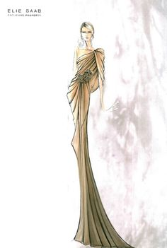 Here Are The Elie Saab Haute Couture Sketches  For Spring Summer 2012 Collection ...  :)                                                    ...