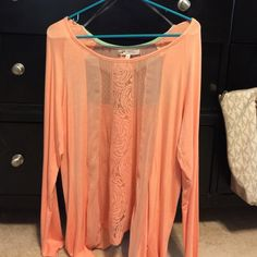Peach long sleeve shirt Peach shirt from Buckle never worn Jolt Tops