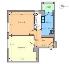 2-Zimmer-Wohnung mit Balkon in Berlin Wedding