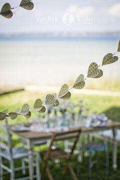 Paper Heart Garlands  |  Bhldn  |  Vintage Weddings  |  Aislinn Kate Photography + Hemstitch Vintage Rentals  (Pensacola Weddings)