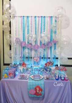 Little Mermaid Disney Birthday Party Ideas | Photo 16 of 20 | Catch My Party