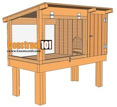 Rabbit Hutch Plans - Step-By-Step Plans - - Rabbit Hutches: Outdoor & Indoor Rabbit Hutche Models Rabbit Cages Outdoor, Outdoor Rabbit Hutch, Indoor Rabbit, Rabbit Hutch Plans, Rabbit Hutches, Rabbit Pen, Pet Rabbit, Rabbit Burrow, Rabbit Hole