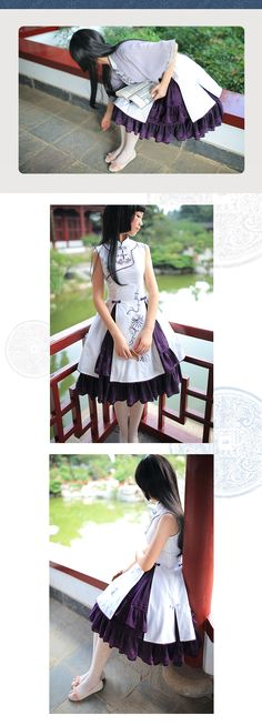 Jewelery in Sunlight Lolita Mirror Canna china style embroidered dress qi lolita one piece