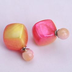 Creative Gradient Double Pearl Earring