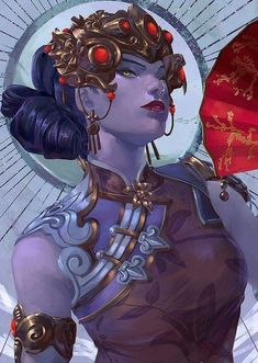 Overwatch - Widowmaker Chinese new year skin Overwatch Widowmaker, Fatale Overwatch, Overwatch Fan Art, Overwatch Drawings, Chun Li, Video Game Art, Video Games, Character Inspiration, Character Art