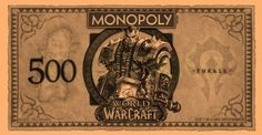 World of Warcraft Monopoly money features heroes on the bills - WoW Insider