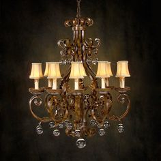 John-Richard AJC-8350 10 Light Chandelier, Sierra Brown