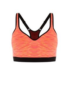 Offering support and style - the Neon Coral Marl Sports Bra. #newlook #sportswear