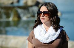 Crochet cowl infinity scarf neckwarmer white by ChildCrochet, $22.00