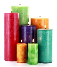 DIY - How To Make Mottled Pillar Candles - Candle Making Techniques <3