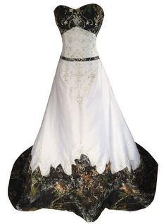 Vintage Camo Wedding Dresses Embroidery A Line Beaded Lace-up Backless Sweetheart Court Train Camo Bridal Gowns Plus Size from Babybridal Kleider Hochzeit White Camo Wedding Dress, Camouflage Wedding Dresses, How To Dress For A Wedding, Camo Dress, Dress Prom, Cowgirl Wedding, Camp Wedding, Prom Dresses, Chiffon Dresses