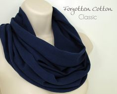 Shoply.com -Infinity Scarf Navy Dark Blue. Only $20.00