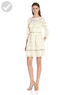 Vince Camuto Women's Lace Fit and Flare Dress, Ivory, 4 - All about women (*Amazon Partner-Link)