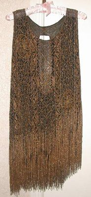 Vintage 1927 Handmade Beaded Flapper Dress Paris