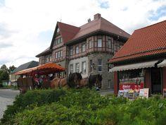 Kutschfahrt vor dem Rathaus in Schierke.