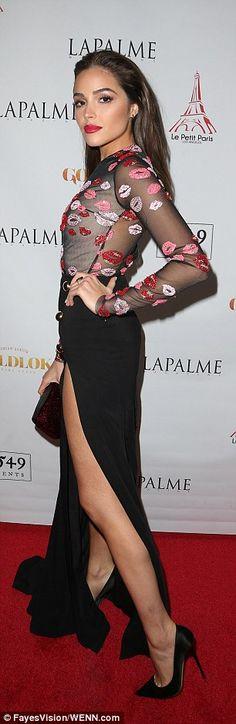 Olivia Culpo at Le Petit Paris in LA to celebrate her cover of LaPalme magazine.