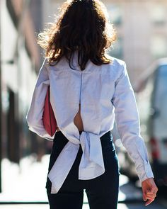 Blouse with a bow back.| @andwhatelse
