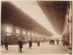"""Durandelle Louis -Emile (1839-1917),  """"Gare Saint - Lazare: large waiting room in the suburbs"""", March 1885."""