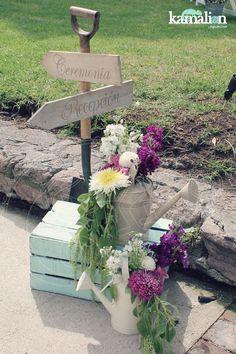 www.kamalion.com.mx - Decoración / Ceremonia / Lila & Gris / Lilac & Gray / Vintage / Rustic Decor / Wedding / Boda / Bautizo / Señalización / Letreros