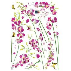Nursery Easy Apply Wall Sticker Decorations - Orchid Tree Branch Stem Flower Butterfly by HYUNDAE sheet. $12.95. Instantly brighten your home, workplace, dorm, or store. Easy to apply, remove, reposition, and reuse without leaving damage or residue. Set includes all stickers shown in picture; Made of PVC. Ideal for dry, clean, and smooth surfaces. Apply to furniture (refrigerator, table, desk, kitchen cabinets, drawers, etc.). Become an interior decorator and transform ...