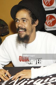 Recording artist, Damian 'Jr. Gong' Marley, attends his album release performance and signing at Virgin Megastore September 12, 2005 in New York City.