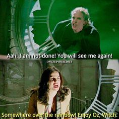 When you have to sing Somewhere Over The Rainbow, for The Wizard Of Oz school play auditions. ✌ Yo, Zelena's in Oz now... What we gonna do.  And that sisterly fight tho.  Regina's just like, go back to where you came from.