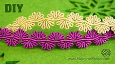 This is a tutorial on how to make a Macrame flower lace bracelet. Very lovely bracelet :) Please watch more macramé bracelets & jewelry in playlist: http://g...