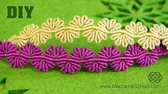 This is a tutorial on how to make a Macrame flower lace bracelet. Very lovely bracelet :) Please watch more macramé bracelets & jewelry in playlist: http://g...