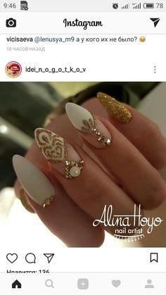 Sexy Nails, Fancy Nails, Love Nails, How To Do Nails, Nail Art Strass, Nail Striping Tape, Nail Polish Art, Winter Nail Art, Accent Nails