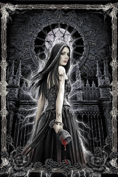 Gothic Siren by Ironshod/Anne Stokes Art Vampire, Female Vampire, Gothic Vampire, Vampire Girls, Dark Gothic, Dark Fantasy Art, Fantasy Kunst, Anne Stokes, Vampire Pictures