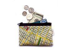 Hey, I found this really awesome Etsy listing at https://www.etsy.com/listing/93359237/new-york-map-zipper-pouch-wallet