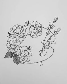 """""""Great art picks up where nature ends. - """"Great art picks up where nature ends. Cool Art Drawings, Pencil Art Drawings, Art Drawings Sketches, Easy Drawings, Tattoo Drawings, Tattoos, Flower Sketches, Tattoo Sketches, Minimalist Drawing"""