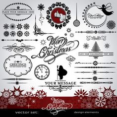 Ornaments elements vector border graphic 05