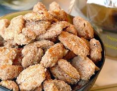 Holiday Gift from your Kitchen: Pecans Glazed Pecans, Sugared Pecans, Cinnamon Pecans, Roasted Pecans, Holiday Recipes, Great Recipes, Favorite Recipes, Appetizer Recipes, Snack Recipes
