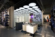 Lindex store by Dalziel and Pow, Uddevalla – Sweden...lighting and ceiling condition