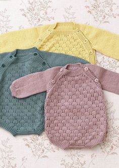 Multiflora baby set pattern by Anne B Hanssen Knitting For Kids, Baby Knitting Patterns, Baby Patterns, Stitch Patterns, Baby Outfits, Kids Outfits, Crochet Baby, Knit Crochet, Rompers For Teens