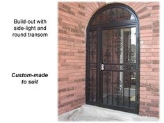 Page 9 Curved transom with matching sidelight  www.MetalexDoors.com  #securitydoors #Door #security #Stormdoors #physicalsecurity #crimeprevention