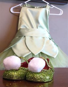 Tinker Bell costume tutorial. So cute! Perfect for Halloween!
