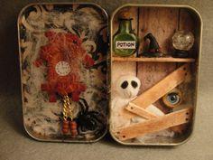 Halloween Haunted House Decorated Altoid Tin Keepsake by Apensons, $28.00