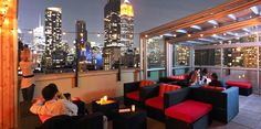 Rare View Rooftop Bar and Lounge Design of Fashion 26 Hotel NYC