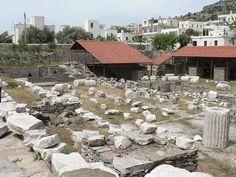 Ruínas do 'Mausoléu de Halicarnasso' (Bodrum, hoje). # Bodrum, Turquia.