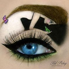 Incredible fairytale inspired eye makeup
