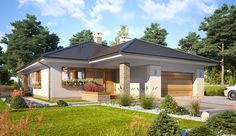 Projekt domu parterowego Bianka o pow. 114,5 m2 z obszernym garażem, z dachem kopertowym, z tarasem, sprawdź! Cottage Plan, Gazebo, House Plans, Outdoor Structures, Outdoor Decor, Home Decor, Home Plans, Home, Poland