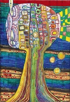 hundertwasser paintings - Google Search