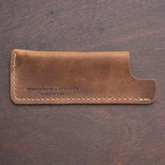 Chicago Steel Comb Tan Horween Leather Case No.2 No.4