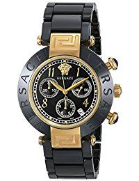 Versace Women's 95CCP9D008 SC09 Reve Black Dial Chronograph Black Ceramic Bracelet Watch * Continue to the product at the image link.