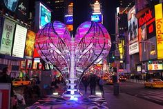 "NYC ♥ NYC: ""Valentine to Times Square,"" heart sculpture in the heart of Times Square"