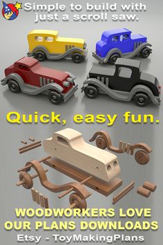 Wooden Toy Trucks, Wooden Toys, Diy Cnc Router, Wooden Plane, Wood Toys Plans, Diy Furniture Couch, Antique Show, Woodworking Toys, Pull Toy
