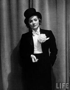 Marlene Dietrich in a tuxedo 1920s