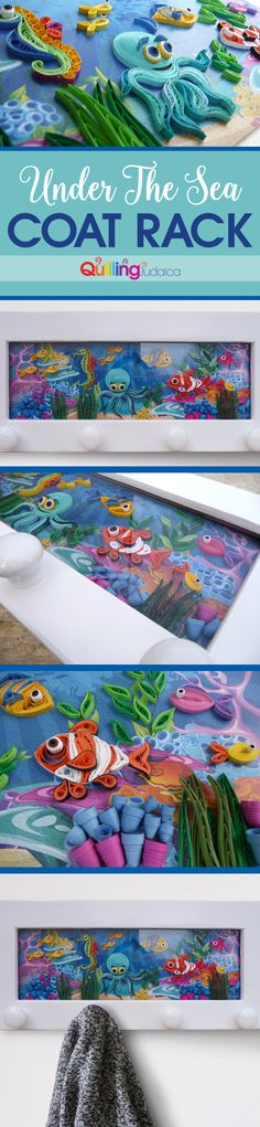 Coat Rack and Framed Quilled Art All-In-One! Unique décor for any room and for sure an amazing gift!